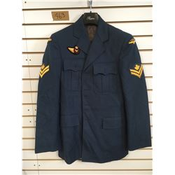 HEAVY WEIGHT AIR FORCE COAT (MEN'S LARGE) *MASTER CORPORAL INSIGNIA*