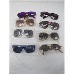 LOT OF 8 PAIR OF SUNGLASSES (NEW) *VARIOUS STYLES* (ADULT SIZES) *UV PROTECTION*