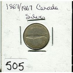CANADIAN CENTENNIAL 10 CENT PIECE (1867 TO 1967)