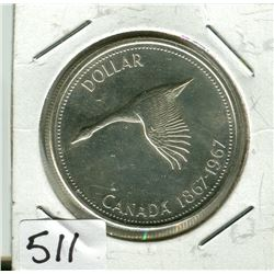 CANADIAN CENTENNIAL DOLLAR (1867 TO 1967)
