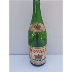 ROYALE GINGER ALE BOTTLE (RARE) *REGINA*