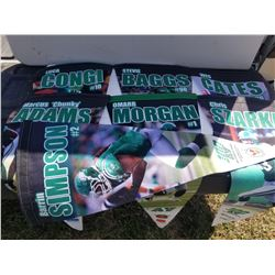 LOT OF 7 SK ROUGHRIDERS PENNANTS