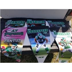 LOT OF 6 SK ROUGHRIDERS PENNANTS