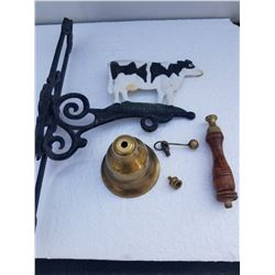 CAST IRON COW HANGERT BRASS BELL PARTS