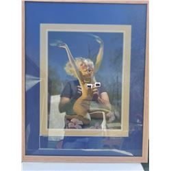 "VINTAGE PIN UP GIRL (24"" X 30"") *FRAMED AND MATTED*"