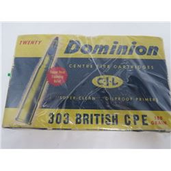 LIVE ROUNDS 1 OLD 1 NEW FULL BOXES 303 BRITISH