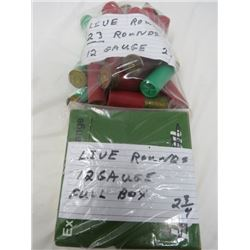 LIVE ROUNDS 12 GAUGE FULL BOX 2 3/4, LIVE ROUNDS 23 ROUNDS 12 GAUGE 2 3/4