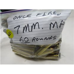 FIRED ONCE 7MM MAG 60 ROUNDS