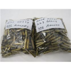 FIRED ONCE 223 BRASS 400 ROUNDS