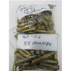 FIRED ONCE 30-06 114 ROUNDS