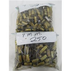 FIRED ONCE 9MM 500 ROUNDS