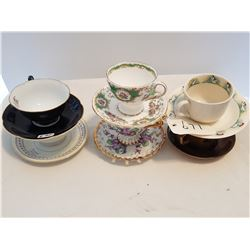 LOT OF 6 CUPS AND SAUCERS (2 ARE OCCUPIED JAPAN)