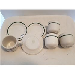 LOT OF 4 MEDALTA CUPS AND 3 SMALL MEDALTA PLATES