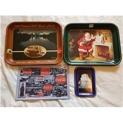 LOT INCLUDING 3 COCA COLA TRAYS AND SIGN
