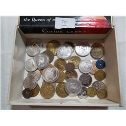 TOKEN LOT IN CIGAR BOX, OLDER