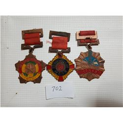LOT OF 3 MEDALS (ASIAN ? UNKNOWN)