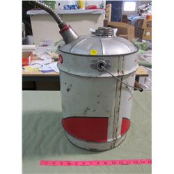 5 GALLON TEXACO PAIL WITH SPOUT VINTAGE