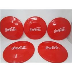 LOT OF 5 COCA-COLA FRISBEES