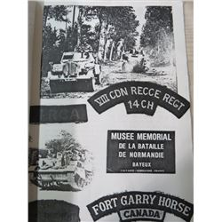 MILITARY PACKAGE (VIII CANADIAN RECCE REGIMENT AND THE NAZI FLAG THEY CAPTURED)