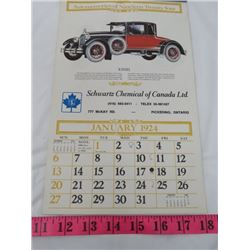 REPLICA CALANDAR (SCHWARTZ CHEMICAL OF CANADA) *1924*
