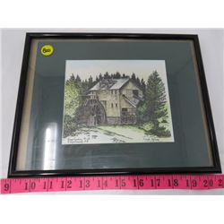 FRAMED PICTURE (KINGS LANDING MILL NB.) *SIGNED BY CAROLE FORBES*