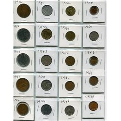 BINDER OF FOREIGN COINS ( 4 SHEETS) *80 IN TOTAL*