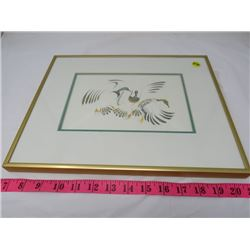 FRAMED BIRD PICTURE *EDDY COBINES*