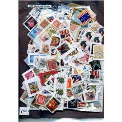 DOUBLE SIDED PACKAGE OF STAMPS, HUNDREDS OF PIECES
