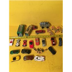 TOY CAR LOT (METAL CARS) *22 PIECES* (2 WITH NO RUBBER)