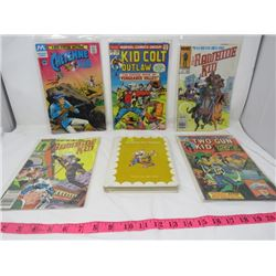LOT OF 5 COMICS AND 1 BOOK