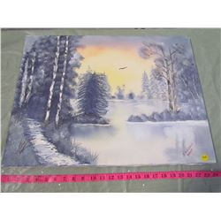 WINTER FOREST PAINTING (NO FRAME)