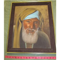 FRAMED INDIAN GENTLEMAN PAINTING