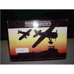 CHOICE OF BIG BUD DIE CAST METAL AIRPLANE BANK