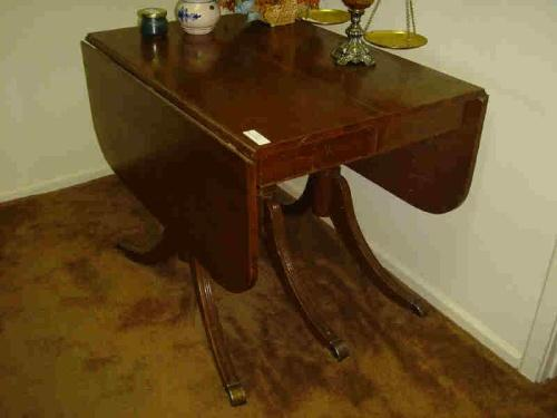 Folding Wooden Dining Room Table Antique
