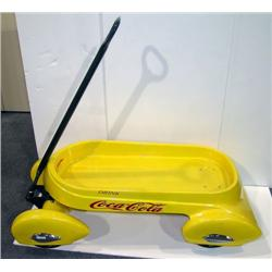 Yellow Coca-Cola wagon reproduction by Glide Ride