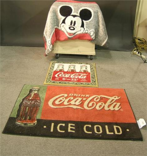 Lot of 2 CocaCola Rugs and Disney Mickey Mouse B – Coca Cola Kitchen Rug