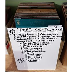BOX OF APPROX 75 COLLECTIBLE RECORDS