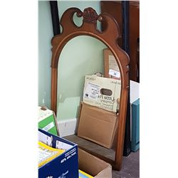CARVED WOOD FRAMED WALL MIRROR