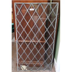 VINTAGE LEADED GLASS WINDOW