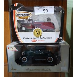 2 DIE CAST VEHICLES IN BOXES