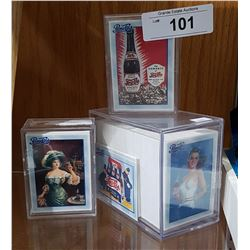 3 HARD PLASTIC CASES OF COLLECTIBLE PEPSI CARDS
