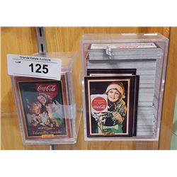 2 LARGE HARD PLASTIC CASES WITH COLLECTIBLE COCA-COLA CARDS