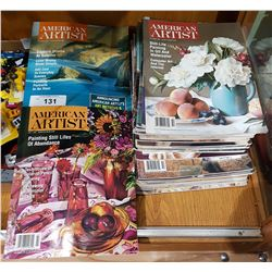 APPROXIMATELY 25 AMERICAN ARTIST MAGAZINES