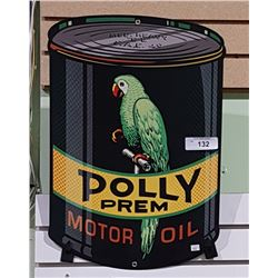 POLLY MOTOR OIL TIN SIGN
