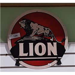 LION GASOLINE TIN SIGN