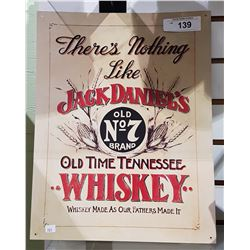 JACK DANIELS WHISKEY TIN SIGN