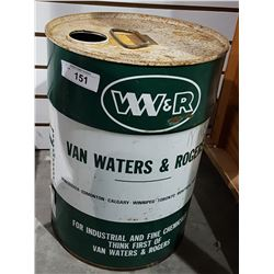 VINTAGE W.R. 5 GALLON DRUM