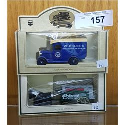2 NEW IN PACKAGE CHEVRON DIECASTS