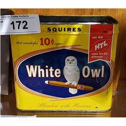 VINTAGE WHITE OWL CIGAR TIN