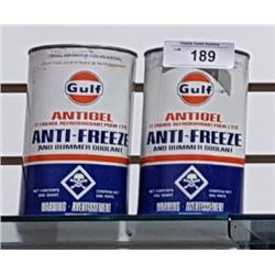 2 GULF ANTIFREEZE QUARTS